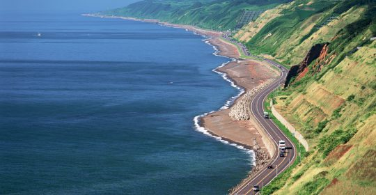 Scenic highway along the coast