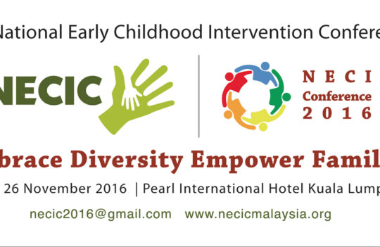 [EVENT] National Early Childhood Intervention Conference 2016