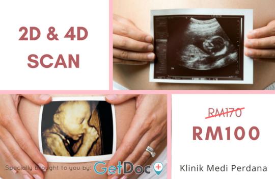 2D & 4D Ultrasound Scan Deal for Pregnant Mother
